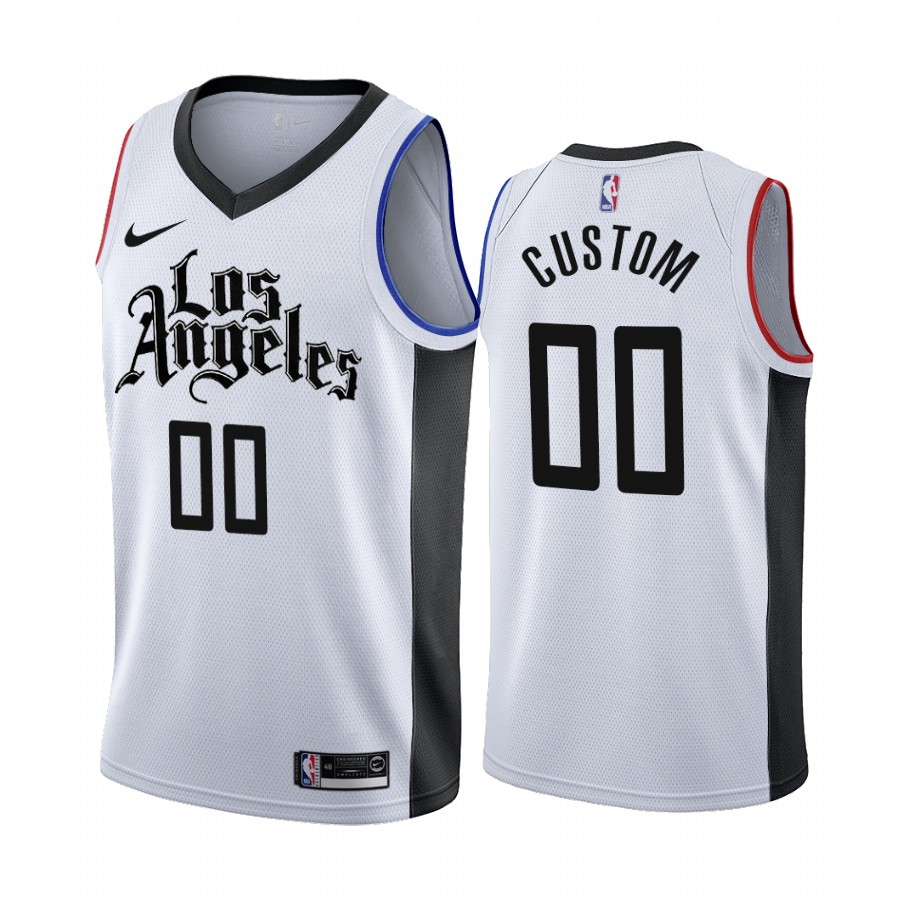 Nike Clippers Custom 2019-20 White Los Angeles City Edition NBA Jersey