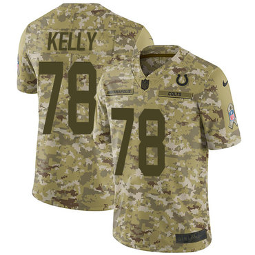 Nike Colts #78 Ryan Kelly Camo Youth Stitched NFL Limited 2018 Salute to Service Jersey