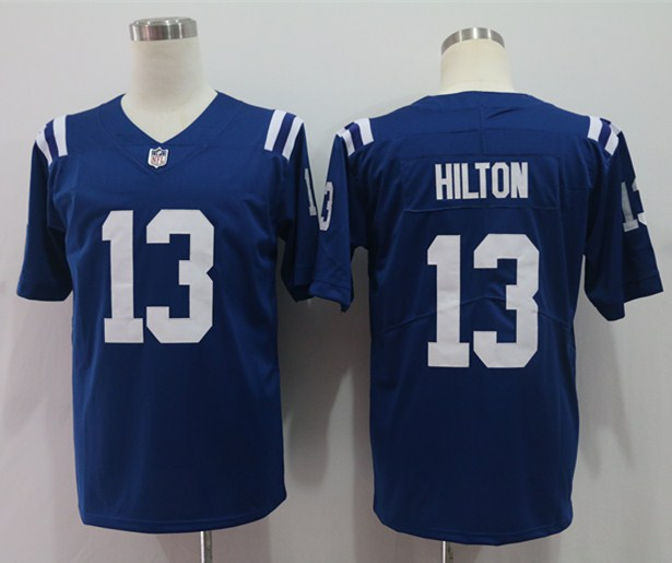 Nike Colts 13 T Y Hilton Blue Vapor Untouchable Limited Jersey
