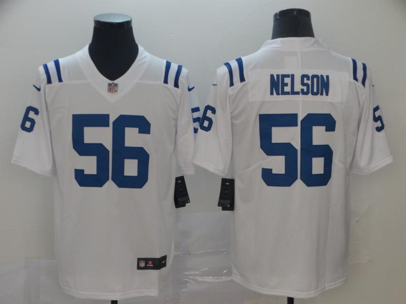 Nike Colts 56 Quenton Nelson White Vapor Untouchable Limited Jersey