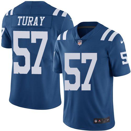 Nike Colts 57 Kemoko Turay Royal Youth Color Rush Limited Jersey