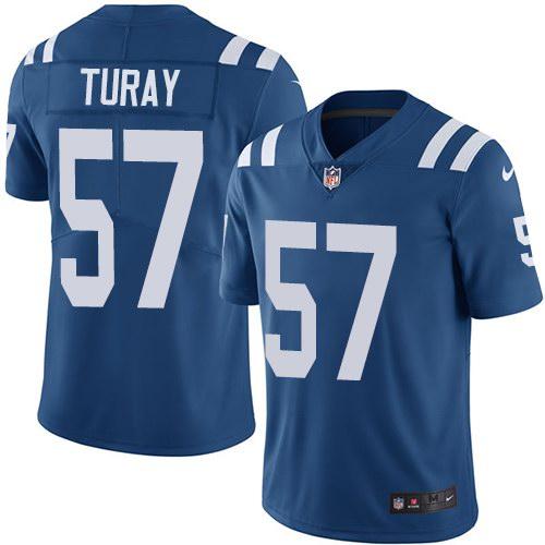 Nike Colts 57 Kemoko Turay Royal Youth Vapor Untouchable Limited Jersey