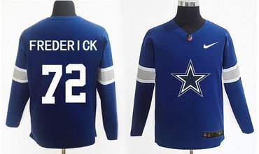 reputable site 2ff5f c1b83 Nike Cowboys 72 Travis Frederick Navy Knit Sweater on sale ...