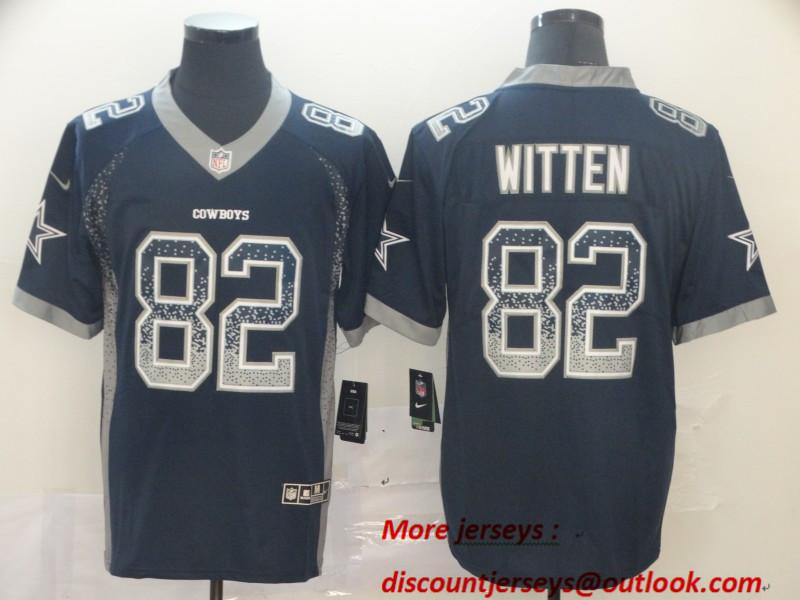 Nike Cowboys 82 Jason Witten Navy Drift Fashion Limited Jersey