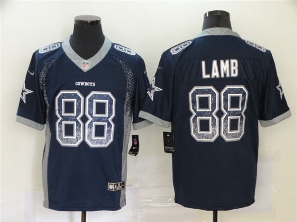 Nike Cowboys 88 Ceedee Lamb Navy Drift Fashion Limited Jersey