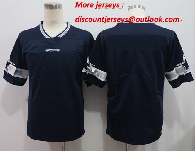 Nike Cowboys Blank Navy Vapor Untouchable Limited Jersey
