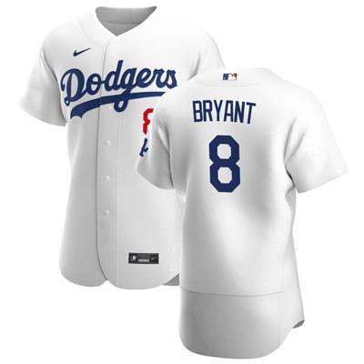 Nike Dodgers #8 Kobe Bryant White Flexbase Jersey
