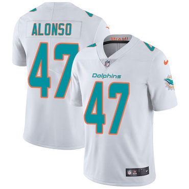 Nike Dolphins #47 Kiko Alonso White Youth Stitched NFL Vapor Untouchable Limited Jersey