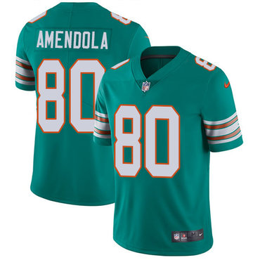 Nike Dolphins #80 Danny Amendola Aqua Green Alternate Youth Stitched NFL Vapor Untouchable Limited Jersey