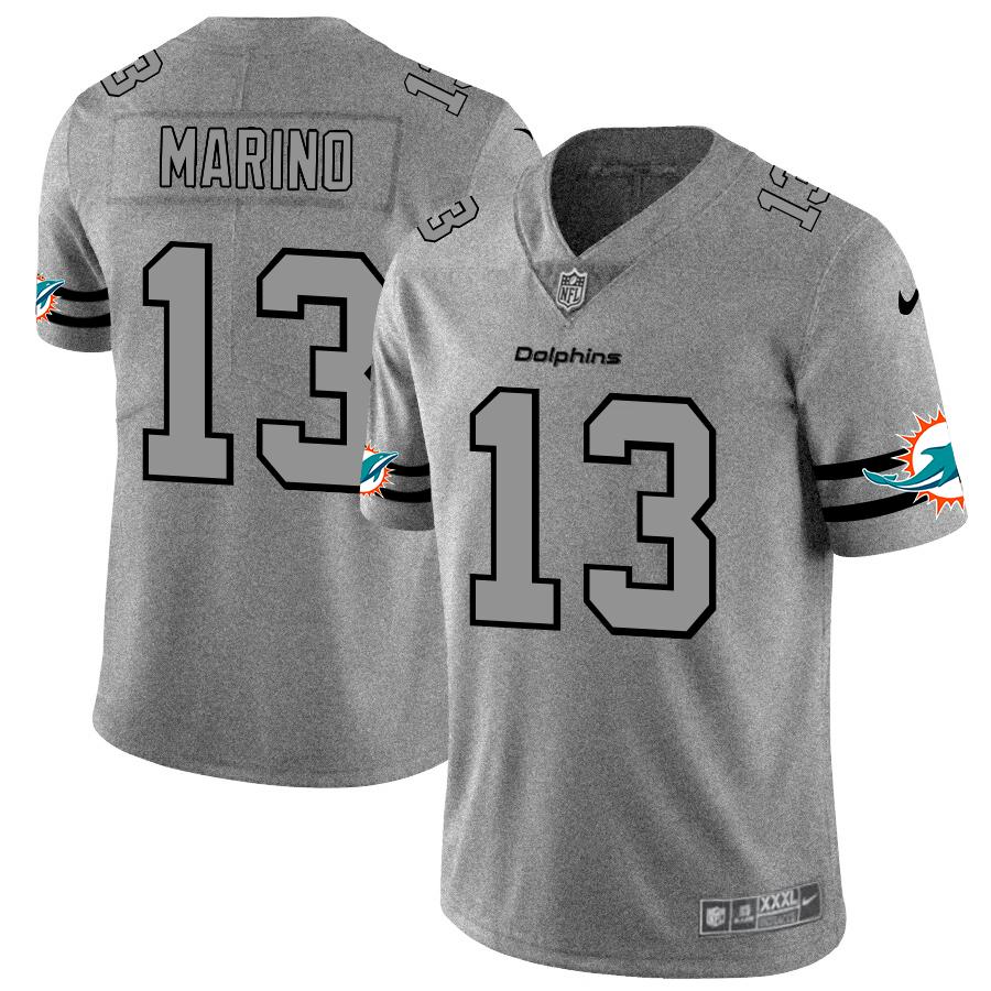 Nike Dolphins 13 Dan Marino 2019 Gray Gridiron Gray Vapor Untouchable Limited Jersey