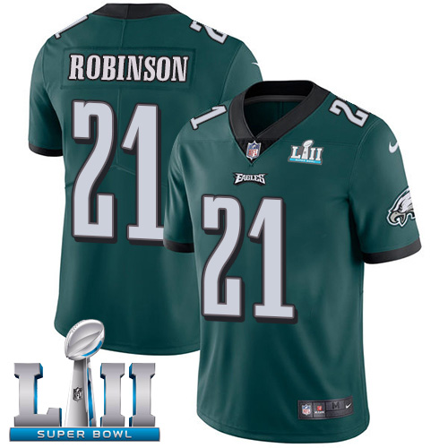 Nike Eagles #21 Patrick Robinson Midnight Green Team Color Super Bowl LII NFL Vapor Untouchable Limited Jersey