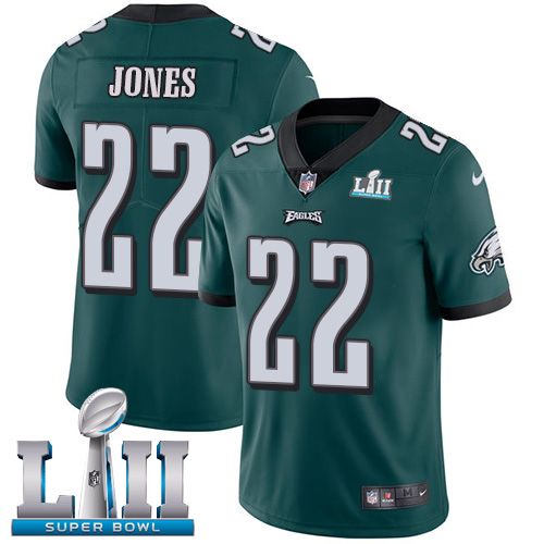 Nike Eagles #22 Sidney Jones Midnight Green Team Color Super Bowl LII Youth Stitched NFL Vapor Untouchable Limited Jersey