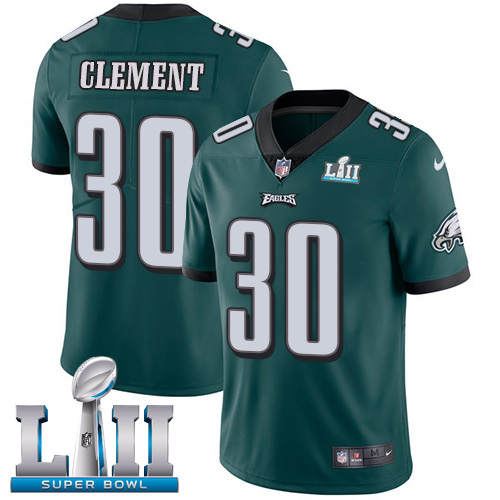 Nike Eagles #30 Corey Clement Midnight Green Team Color Super Bowl LII Youth Stitched NFL Vapor Untouchable Limited Jersey
