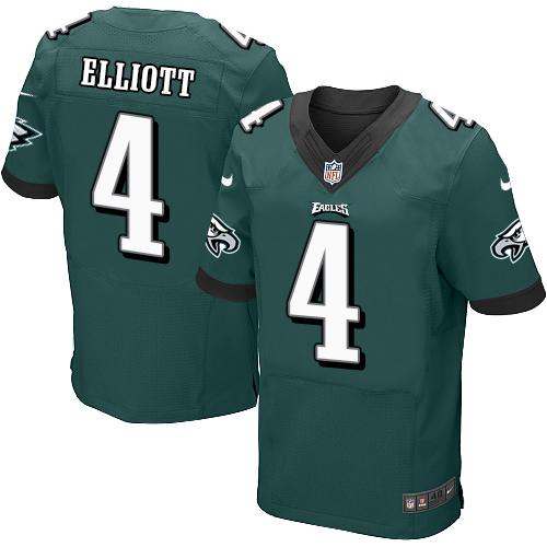 Nike Eagles #4 Jake Elliott Midnight Green Team Color Men's Stitched NFL New Elite Jersey