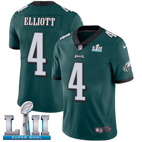 Nike Eagles #4 Jake Elliott Midnight Green Team Color Super Bowl LII Youth Stitched NFL Vapor Untouchable Limited Jersey