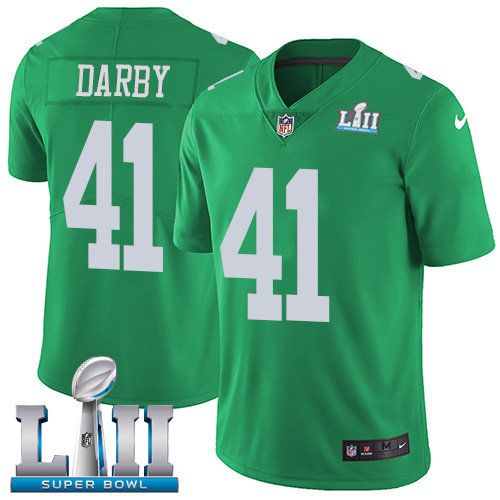 Nike Eagles #41 Ronald Darby Green Super Bowl LII Stitched NFL Limited Rush Jersey