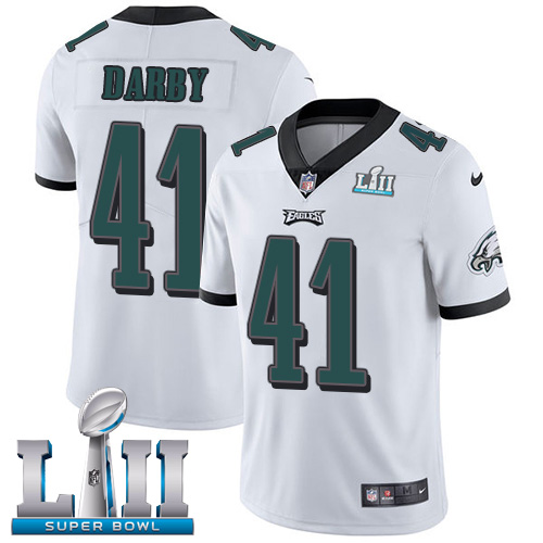 Nike Eagles #41 Ronald Darby White Super Bowl LII Stitched NFL Vapor Untouchable Limited Jersey