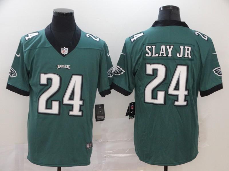 Nike Eagles 24 Darius Slay Jr Green Vapor Untouchable Limited Jersey