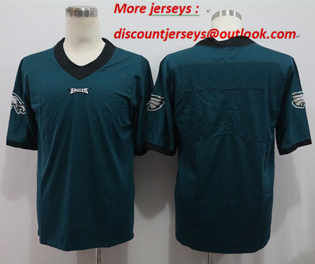 Nike Eagles Blank Green Vapor Untouchable Limited Jersey