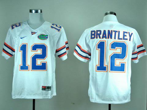 NEW Florida Gators John Brantley 12 White College Football Jerseys