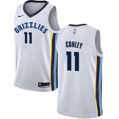 Nike Grizzlies #11 Mike Conley White NBA Swingman Association Edition Jersey