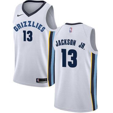Nike Grizzlies #13 Jaren Jackson Jr. White NBA Swingman Association Edition Jersey