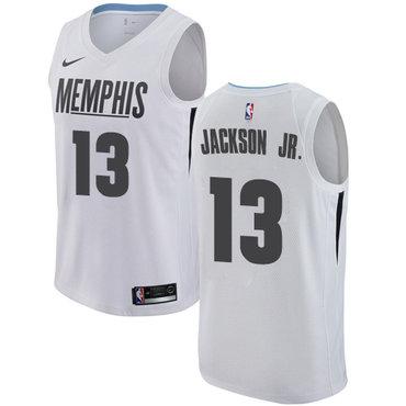 Nike Grizzlies #13 Jaren Jackson Jr. White NBA Swingman City Edition Jersey