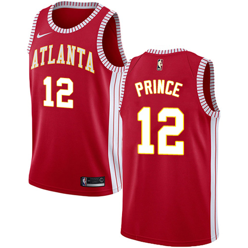 Nike Hawks #12 Taurean Prince Red NBA Swingman Statement Edition Jersey
