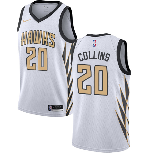 Nike Hawks #20 John Collins White NBA Swingman City Edition 2018 19 Jersey