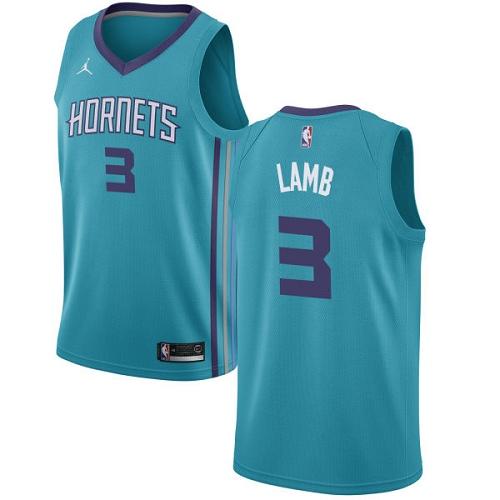 Nike Hornets #3 Jeremy Lamb Teal NBA Jordan Swingman Icon Edition Jersey