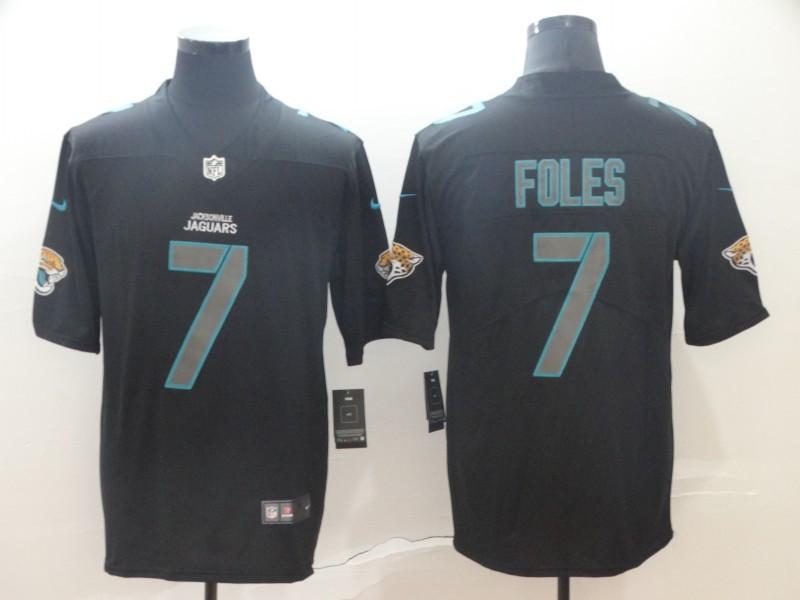 Nike Jaguars 7 Nick Foles Black Impact Rush Limited Jersey