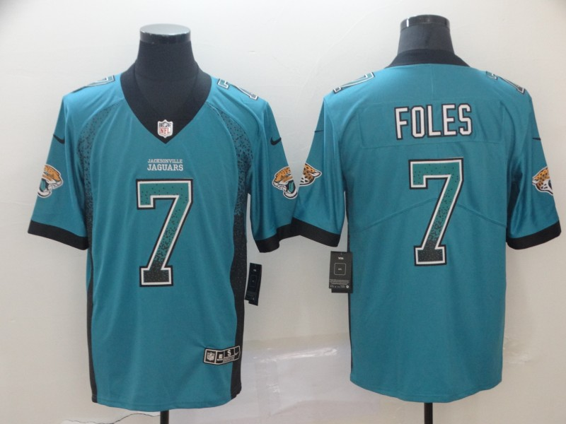 Nike Jaguars 7 Nick Foles Teal Drift Fashion Limited Jersey