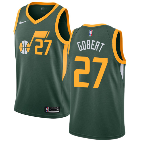 Nike Jazz #27 Rudy Gobert Green NBA Swingman Earned Edition Jersey