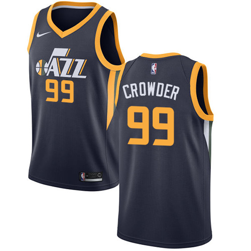 Nike Jazz #99 Jae Crowder Navy NBA Swingman Icon Edition Jersey