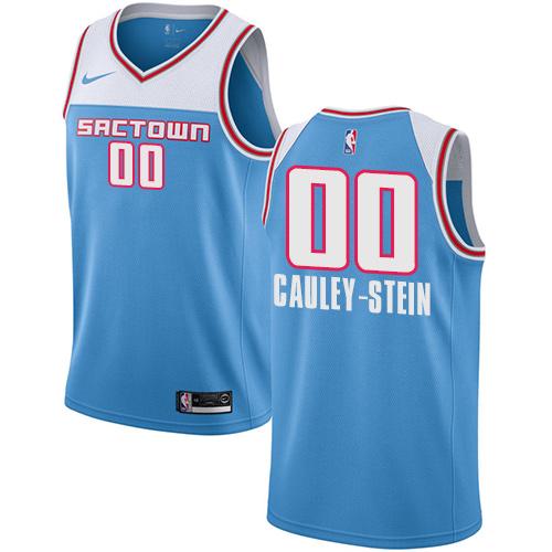 Nike Kings #00 Willie Cauley-Stein Blue NBA Swingman City Edition 2018 19 Jersey