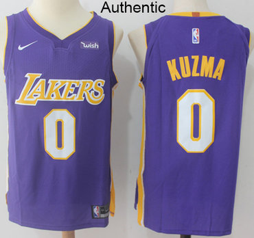 new arrival 5c4c1 d5854 Nike Lakers #0 Kyle Kuzma Purple NBA Authentic Statement ...