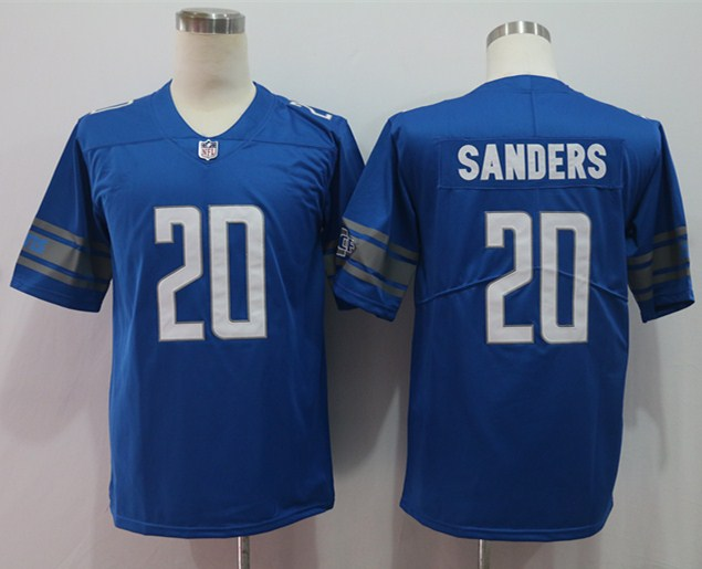 Nike Lions 20 Barry Sanders Blue Vapor Untouchable Limited Jersey