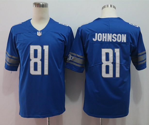 Nike Lions 81 Calvin Johnson Blue Vapor Untouchable Limited Jersey