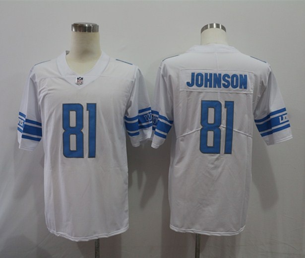 Nike Lions 81 Calvin Johnson White Vapor Untouchable Limited Jersey