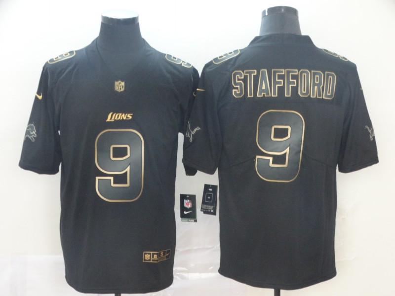 Nike Lions 9 Matthew Stafford Black Gold Vapor Untouchable Limited Jersey