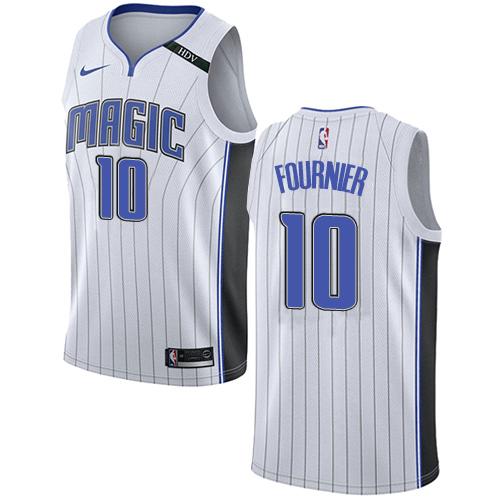 Nike Magic #10 Evan Fournier White NBA Swingman Association Edition Jersey