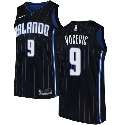 Nike Magic #9 Nikola Vucevic Black NBA Swingman Statement Edition Jersey