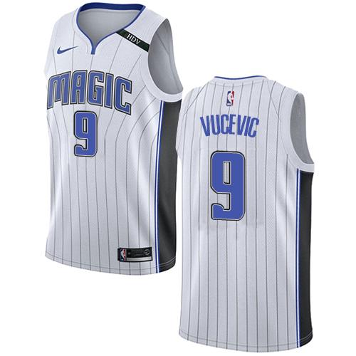 Nike Magic #9 Nikola Vucevic White NBA Swingman Association Edition Jersey