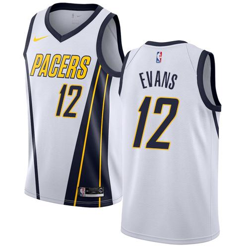 Nike Pacers #12 Tyreke Evans White NBA Swingman Earned Edition Jersey