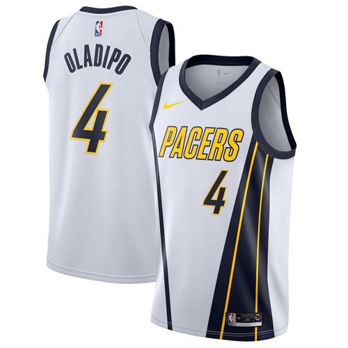 Nike Pacers #4 Victor Oladipo White NBA Swingman Earned Edition Jersey
