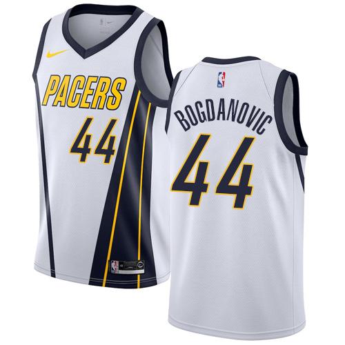Nike Pacers #44 Bojan Bogdanovic White NBA Swingman Earned Edition Jersey