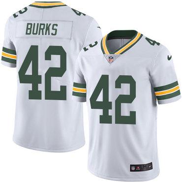 Nike Packers #42 Oren Burks White Men's Stitched NFL Vapor Untouchable Limited Jersey