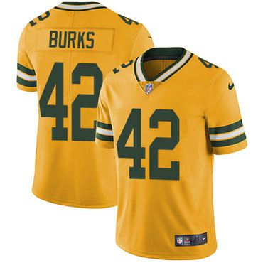 Nike Packers #42 Oren Burks Yellow Men's Stitched NFL Limited Rush Jersey