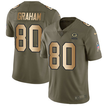 Nike Packers #80 Jimmy Graham Olive Gold Men's Stitched NFL Limited 2017 Salute To Service Jersey
