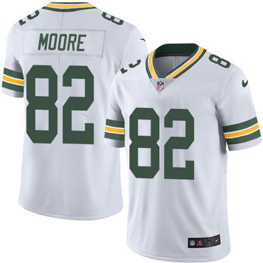 Nike Packers #82 J'Mon Moore White Men's Stitched NFL Vapor Untouchable Limited Jersey